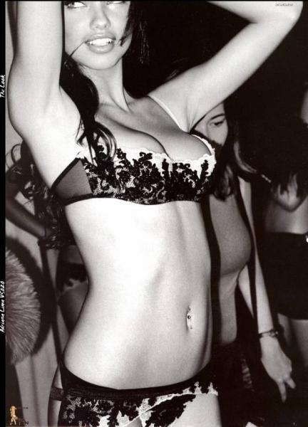 Adriana Lima - black bra