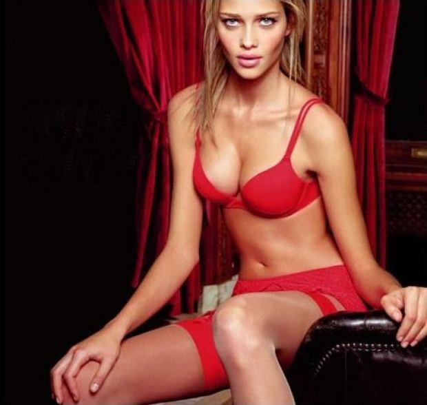 Ana Beatriz Barros in a red lingerie